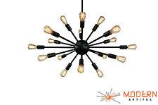 Sputnik Atomic Mid Century Light Chandelier Oil Rubbed Bronze Starburst Eames