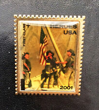 USPS Stamp Pin Heroes of 2001 Firemen Atop World Trade ;Center