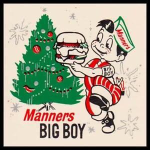 Manner's Big Boy Christmas Fridge Magnet