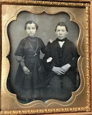 1/6 PLATE DAGUERREOTYPE with FULL CASE - Young Brother & Sister
