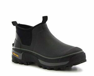 NEW Western Chief Neoprene Ankle Boot Mens Waterproof Slip-on BLACK VIBRAM Sole