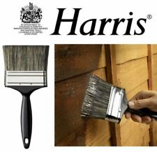 HARRIS SHED FENCE & DECKING PAINT BRUSH LARGE BRISTLE WIDE BLOCK PASTE BRUSH