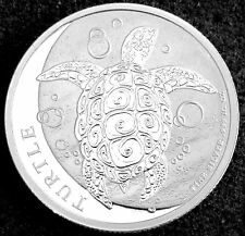 2015 1/2 OZ SILVER NEW ZEALAND MINT $1 NIUE HAWKSBILL TURTLE - BU .999 FINE