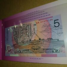 $5 NOTE RARE ''HK97'' RED NUMBERING ONLY 8000 MADE UNC IN FOLDER 🇦🇺