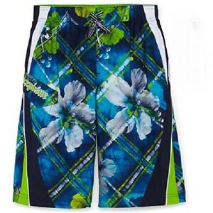 ZeroXposur Board Shorts Swim Trunks ~ Size Large (7) ~ Blue & Green