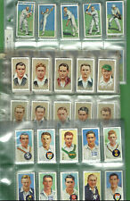 #GG1.   THREE(3) SETS  OF CRICKET CIGARETTE CARDS - CRICKETERS 1930, 1934 & 1938