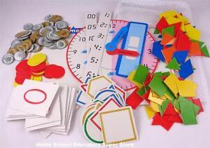 Harcourt Math Manipulatives Kit Homeschool Elementary Teacher Grades K-4th NEW