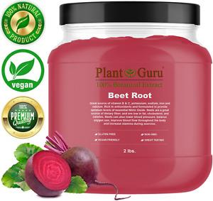 Red Beet Root Powder 2lb Jar Beta Vulgaris Nitric Oxide Super Food Juice Bulk