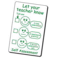 Let Your Teacher Know Self-Assessment School Marking Stamp Teacher Feedback 21MM