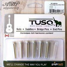 6 STIFTE TUSQ PP-1100-01 Weiß GRAPH TECH AKUSTISCHE GITARRE BRIDGE WIRBEL weiß