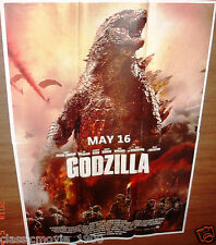 "GODZILLA  (2014) ORIGINAL  2 SHEET POSTER 37""X  53"" RARE INDIA"