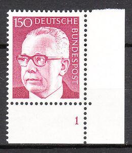 BRD 1972 Mi. Nr. 730 Postfrisch Eckrand 4 Formnummer 1 TOP!!! (9732)