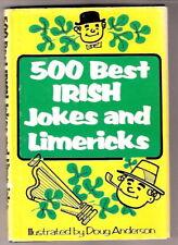 500 BEST IRISH JOKES AND LIMERICKS  w/dj  ex++ 1970 2ND