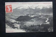 Carte Postale Ancienne 1909 MONT-LOUIS - La Citadelle et Chaîne des Pyrénées