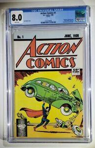 Action Comics #1  ~  Reprint  ~ CGC 8.0 ~ 1st Superman! Reprint