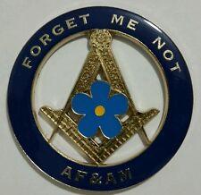 Freemason Ancient Free and Aceepted Masons Forget Me Car Emblem