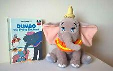 "Disney / Dumbo 10"" Plush / Soft Toy + Vintage 1978 Story Book Bundle"