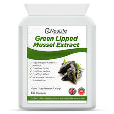 Green Lipped Mussel Extract - 500mg - 60 Capsules