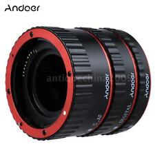 High Quality Auto Focus Macro Extension Lens Adapter Ring Tube Red for Canon EOS