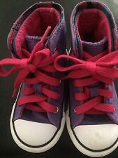 Little Girl Purple Converse All Star High Top Sneakers Size 6
