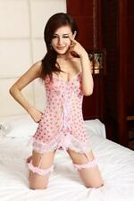 Sexy Lingerie Sleepwear Sleep Dress Women's Lace Lovely Red Heart Floral Pattarn