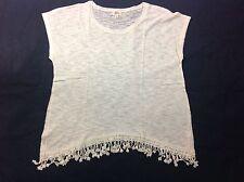 Born Famous Women's Plus Size 1X Short Sleeve Lace Neckline Boho Blouse Top