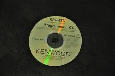KENWOOD KPG-27D PROGRAMMING SOFTWARE TK-260. TK-270. TK-360. TK-370