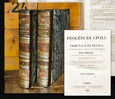 1826 Nice bindings Bibliotheca Brunck Pigeau La Procédure civile