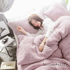 Lamb Cashmere Bedding Set Flannel Fleece Bed Linen Velvet Duvet Cover Pillowcase