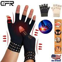 Arthritis Compression Copper Infused Gloves Magnetic Hand Support Pain Sprain PF