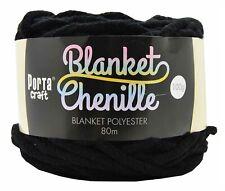 Chenille Blanket Yarn 100g 80m Solid Black
