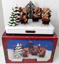 Animated Musical BEAR BAND Wonderland in Box w/ Adaptor 12 Christmas Tunes