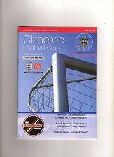 CLITHEROE v OSSETT ALBION 26th January 2008 Unibond League Division 1