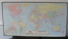 More details for vintage p&o containers ship trade routes world map worldwide service network