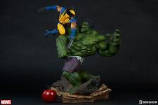 "SIDESHOW Marvel Comics HULK Vs. WOLVERINE 23"" Maquette Polystone Statue X-Men"