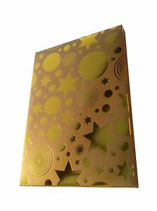 DVD & GAME GIFT BOX. Quality Fold Up Gold Box Fits Standard Single DVD / Game