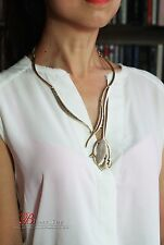 Collar Fino Dorado Colgante Tulipán Metal Art Deco Vintage Simple Original OSC 4