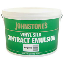 Johnstones Paint Contract Vinyl Silk Magnolia 10L