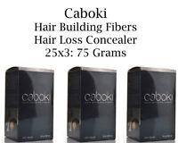 3Pcs Caboki Hair Building Fibers 25 Grams - Hair Loss Concealer U.S SELLER