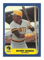 1986 Fleer Update #U-14 Barry Bonds Rookie RC