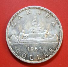 Canada-Kanada 1 Dollar 1963 Silber Coin KM# 54 VZ-XF  #F2896 Kanu-Indianer