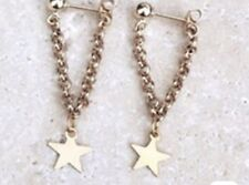 Earring Boho Festival Party Boutique Uk Gold Chain Star Drop Luxury Fashion