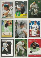 JASON GIAMBI - OAKLAND - 9 CARD MIXED LOT - NRMT with ROOKIE CARDS