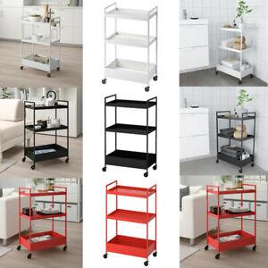 IKEA NISSAFORS 3 Tier Kitchen Bathroom Utility Trolley Cart Storage Racks Trays