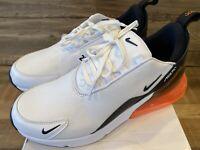Nike Men's Air Max 270 PRM LEA, Size 8 US, White/black/hyper Crimson