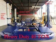 22 FEET 4 TOWERS AUTO BODY FRAME MACHINE 360 DEGREES 40 TON HEAVY DUTY JACK 2D