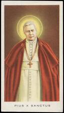 """santino-holy card""""""""ediz. EGIM  n.254 S.PIO X PAPA"""