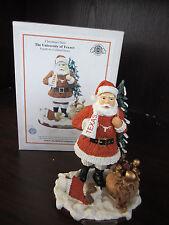 "U Of TEXAS Longhorns Christmas Cheer Santa NEW In Box 8"" memory company"