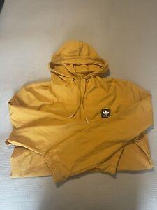 Adidas Yellow Rain Coat Size Medium Mens