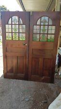 Double Leadlight Door